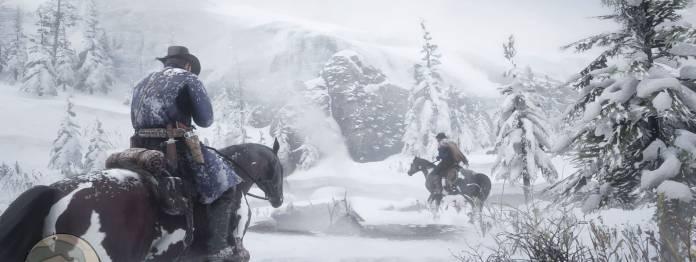 Am Anfang von Red Dead Redemption kämpft die Bande mit dem Winter
