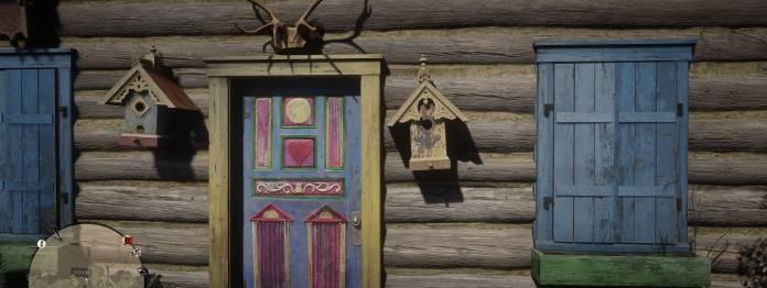 Immer wieder finden sich im Spiel merkwüridge Details, wie z. B. diese interessant ausgestattete Blockhütte