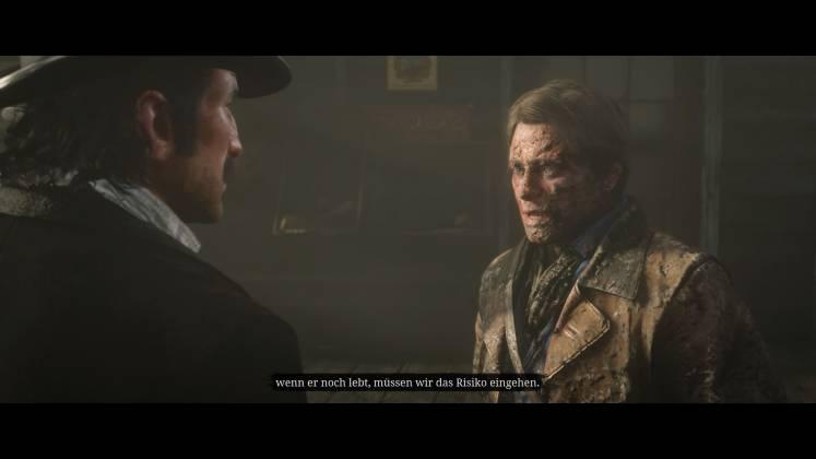 Unglaublich Detailreich: Nachdem sich Arthur im Schlamm geprügelt hat, steht ihm dies deutlich ins Gesicht geschrieben