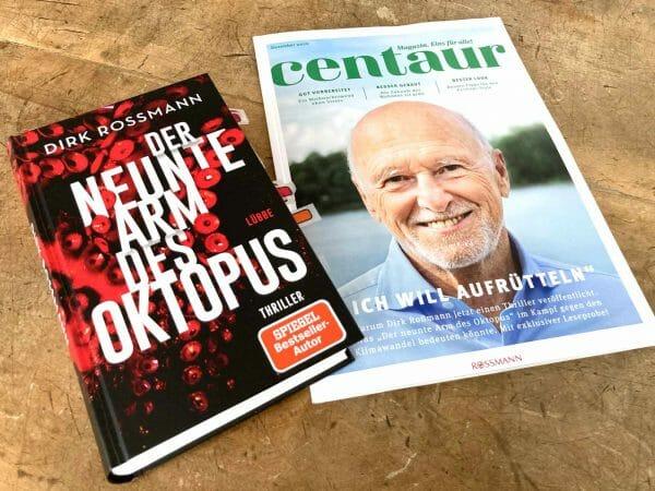 Als Coverboy wirbt Roßmann auch in der eigenen Kundenzeitschrift »centaur« für das Buch von Rossmann