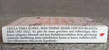 Buchrücken: Ursula Timea Rossel: Man nehme Silber und Knoblauch, Erde und Salz