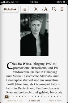 Infos über die Autorin Claudia Weiss: »Schandweib« auf dem iPhone