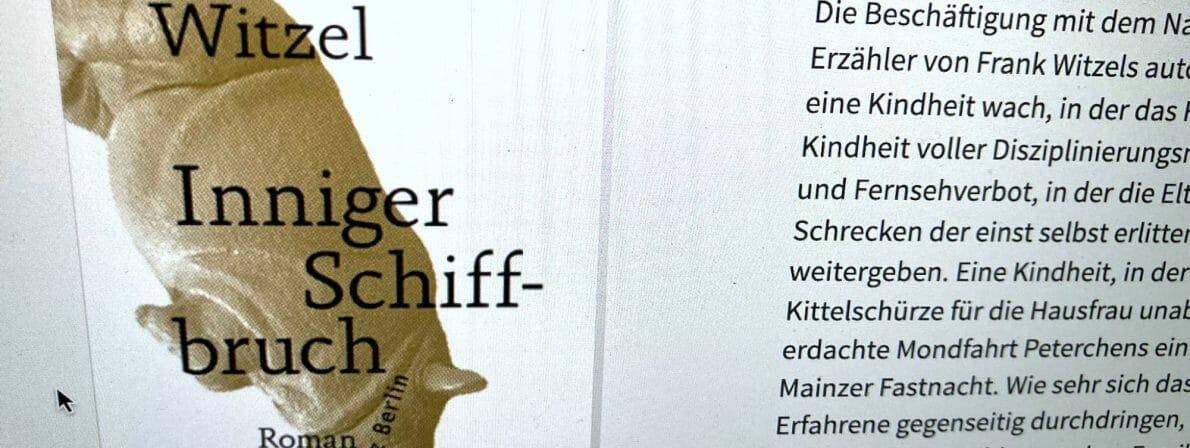 Frank Witzel, Inniger Schiffbruch