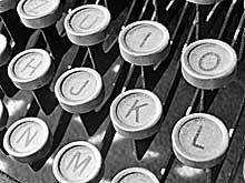 Detail: Schreibmaschine