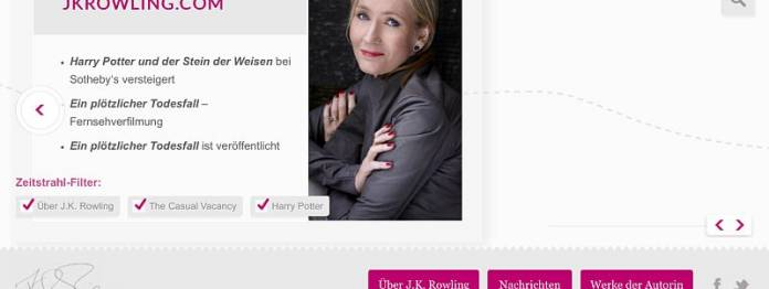 Die offizielle Website von J. K. Rowling