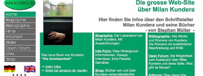 Die große Website über Milan Kundera