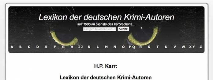 Lexikon der deutschen Krimiautoren