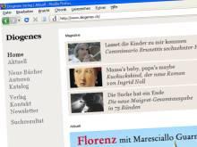 Die neue Website des Diogenes Verlags