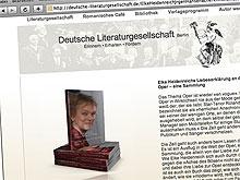Screenshot: Deutsche Literaturgesellschaft