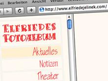 Die Website von Elfriede Jelinek