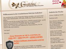 Betrügerisch: Die Website gedichteonkel.com