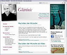 Website thomas-glavinic.de