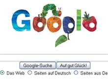 Die kleine Raupe Nimmersatt bei Google