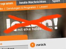 Kein 'lesen!' mehr im ZDF