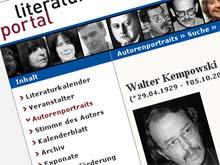 Auch auf literaturportal.de ist Walter Kempowski tot