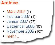"""Das """"Archive"""" belegt den Niedergang des bücher-Weblogs seite4"""