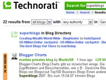 Superblogs auf technorati