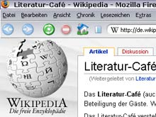 Das literaturcafe.de in der Wikipedia