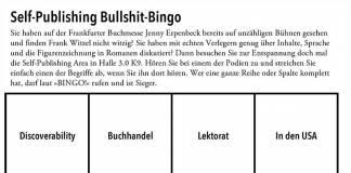 Spielkarte: Self-Publishing Bullshit-Bingo (Anklicken zum Vergrößern)