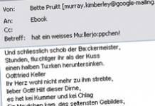 Dubiose Spam-Attacke mit klassischen Gedichten