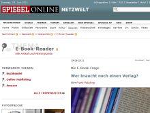 E-Book-Bericht im SPIEGEL online