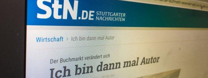 Beitrag übers Self-Publishing in den Stuttgarter Nachrichten