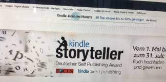 Shortlist des Kindle Storyteller Award 2018: »Sprachlich hilfloses Gerumpel«