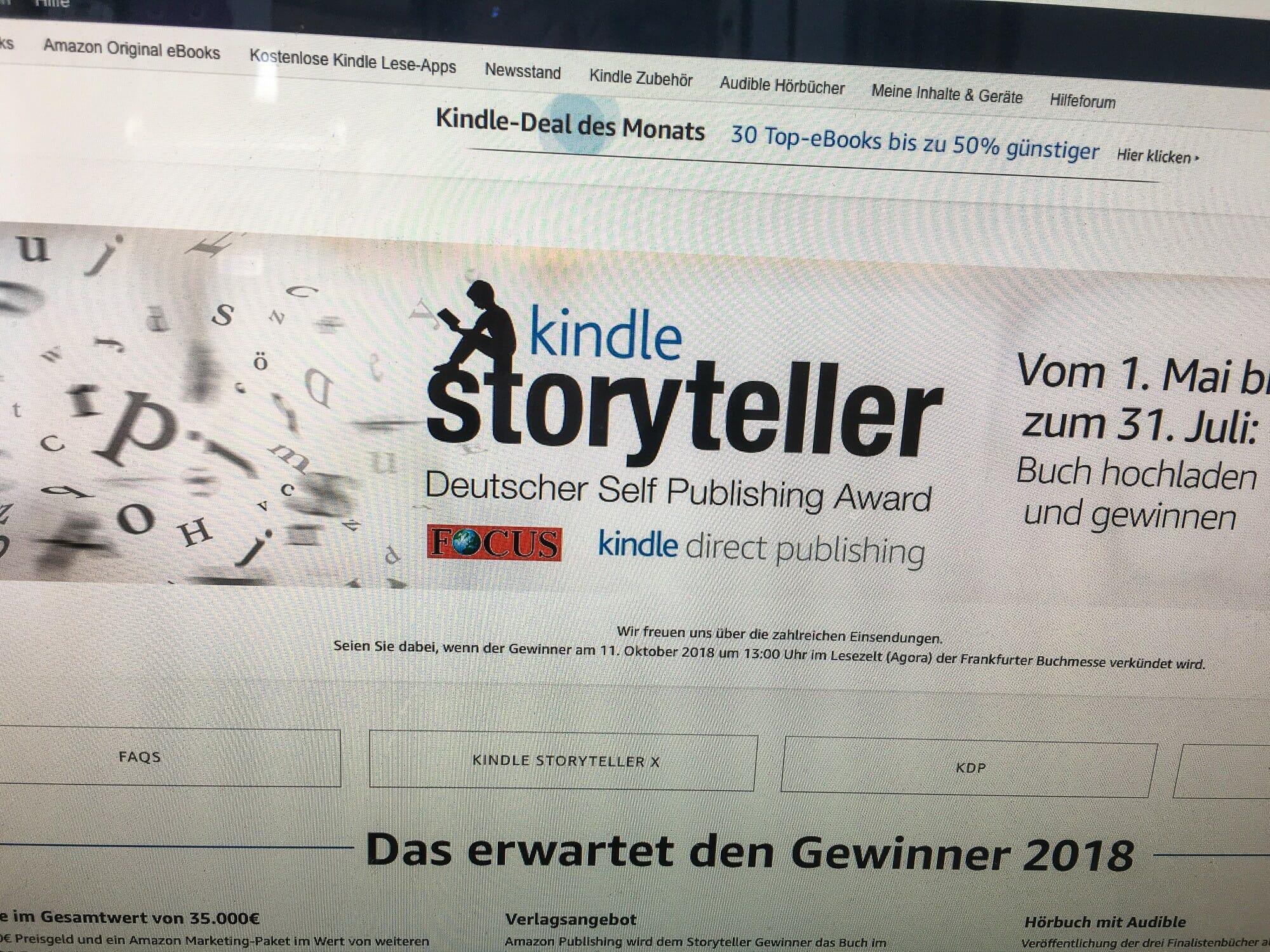 Shortlist des Kindle Storyteller Award 2018: »Sprachlich hilfloses ...