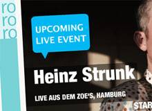 Heinz Strunk hat live im Internet gelesen