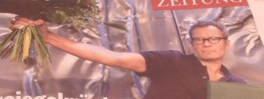 Tex Rubinowitz ist heute Coverboy der @kleinezeitung in Kärnten