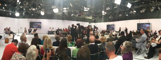 Panoramabild des ORF-Studios beim Bachmannpreis 2017 (Klick zum Vergrößern)