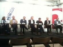 Bachmannpreis-Pressekonferenz am 15. Mai 2012 in Berlin