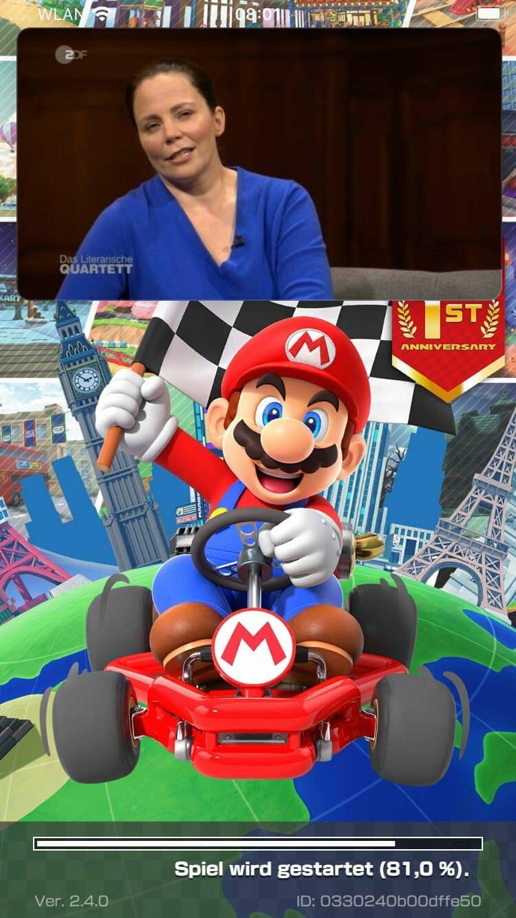 Bild im Bild auf dem Smartphone: Thea und Mario