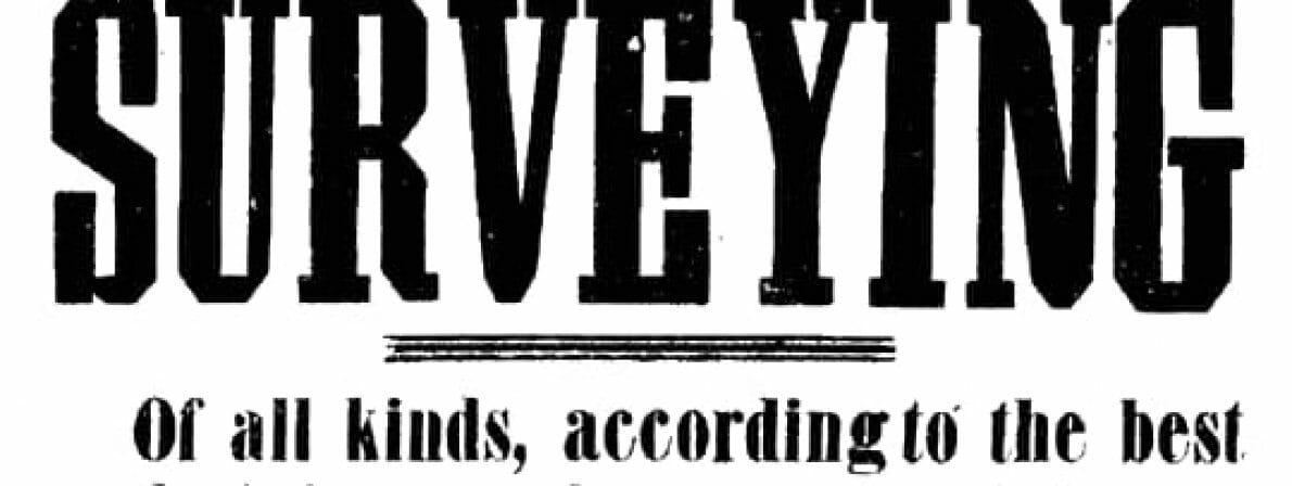Mit diesem Werbeflugblatt war Thoreau für seine Dienste als Landvermesser (Klick zum Vergrößern/Foto: Public Domain)