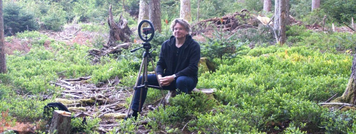Wolfgang Tischer liest Walden im Wald: Der Aufbau am Tag 3