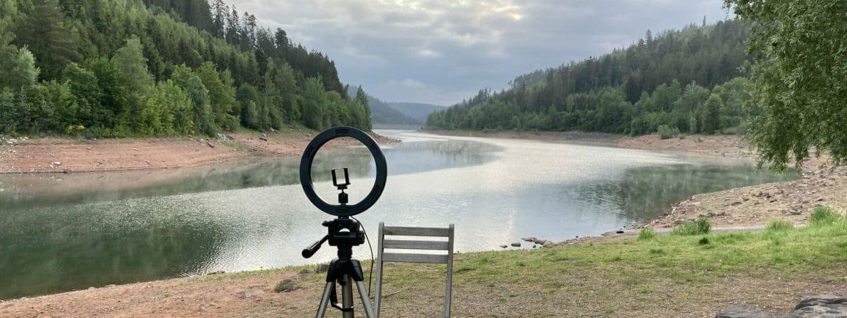 Wolfgang Tischer liest Walden im Wald (und am Wasser): Der Aufbau am Tag 6