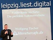 Wolfgang Tischer bei seinem Vortrag auf der Leipziger Buchmesse