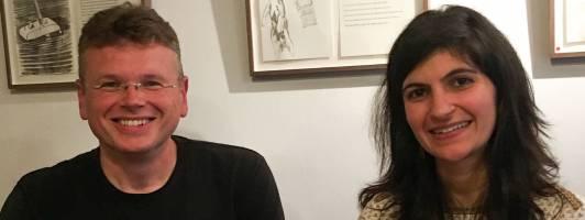 Shida Bazyar und Wolfgang Tischer nach dem Werkstattgespräch im Stuttgarter Schriftstellerhaus (Foto: Braun)