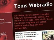"""Echt oder nicht? Die Website zu """"Toms Webradio"""""""