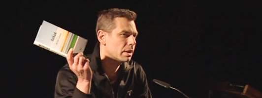 Wolfgang Herrndorf bei seiner Lesung am 05.11.2010 in Berlin (Foto: Studiocanal/Literaturtest)