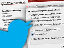 Die dubiose Download-Meldung beim Aufruf des Twitter-Buttons