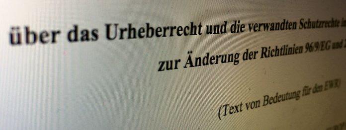 Screenshot: EU-Richtlinie über das Urheberrecht und die verwandten Schutzrechte.