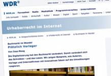 Screenshot-Ausschnitt auf wdr.de