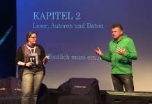 Klaudia Zotzmann-Koch und Wolfgang Tischer beim Vortrag auf der PrivacyWeek in Wien