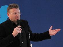 Wolfgang Tischer beim Vortrag