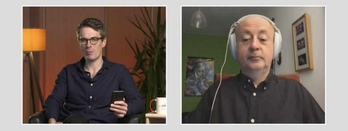 Die Referent:innen waren digital zugeschaltet - bisweilen mit merkwürdigem Kopfschmuck (Foto: Screenshot)