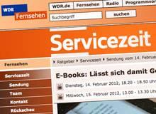 WDR Servicezeit mit dem Thema E-Books und Zuschussverlage