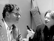 Roger Willemsen und Wolfgang Tischer im Gespräch auf der Frankfurter Buchmesse 2011