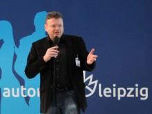 Wolfgang Tischer bei einem Vortrag in Leipzig
