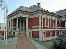 Das denkmalgeschützte ehemalige Verwaltungsgebäude der Bremer Woll-Kämmerei